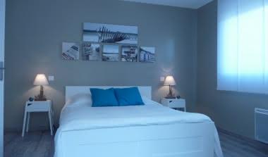 Chambre d'hôtes-Dadoy-Lacanau-Chambre bleu