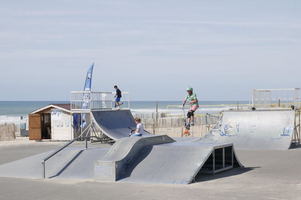 Lacanau Océan-skate park © Médoc Atlantique